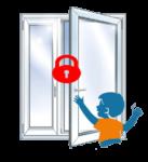 Защита от детей на окна: замки и блокираторы решетки